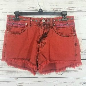 Free People Shorts - FREE PEOPLE RED SHORTS